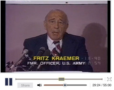 Fritz Kraemer speech from 1990 (begins at 29:24)